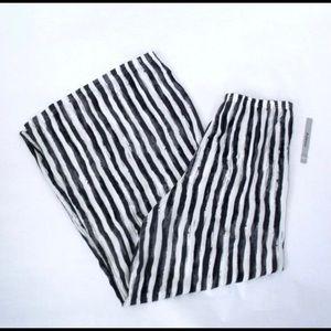 Zac & Rachel   Wide Leg Striped Pants   Size XL